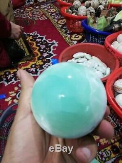 Bleu Aragonite Sphères 10kg Boîte 30pieces De 300g Poids Et 30mm Taille