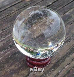 Boule De Cristal Clair Avec Socle En Bois (80 Mm, 200 Mm)