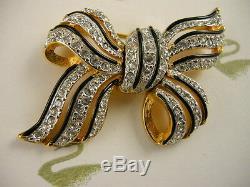 Broche En Arc De Cristal En Cristal Swarovski Signée Nouvelle Pièce De Collectionneurs Rares À La Retraite