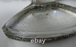 Bureau Allemand 4 Pièces Situé Dans 800 Fine Argent Et Coupe / Gravé Cristal Design Classique