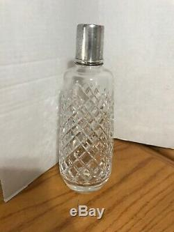 Carafe En Cristal Avec Couvercle En Argent Sterling A Besoin Piece Lourd Belle Polonaise