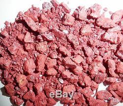 Cinabre Cristal Monochrome Pierre 0.3 À 5 Carat 1 KG Lot