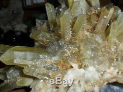 Citrine Crystal Cluster Exceptionnellement, Une Magnifique Pièce Naturelle Énorme