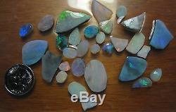 Colis De Rubis À L'opale Mintabie X 29 Pièces 70 Carats Total À Couper Lapidaire