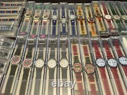 Collection De Montres Vintage Swatch 60 Pièces Dont Chrono Et Scuba Styles