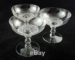 Collection De Service Vintage Duncan & Miller Teardrop 24 Pièces En Verre Cristal