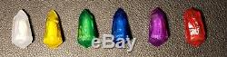 Complet (6) Pièces Kyber Crystal Set Pour Edge Holocron & Light Saber Galaxy