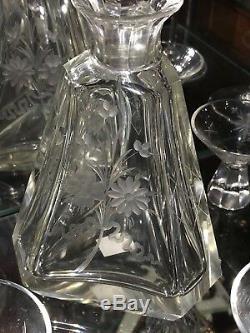 Cristal Baccarat Potable Set 7 Pièces