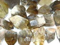 Cristal Citrine Tous Congo Naturel, Afrique 1 Livre Lot 1 / 2-3 Pouces 20 Pièces En Plus