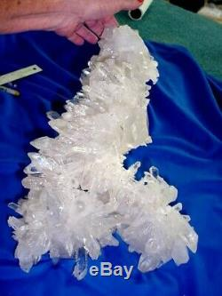 Cristal De Quartz Arkansas Burr Square Square Back Beauitful, Pièce De Collection