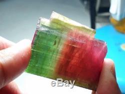 Cristal De Tourmaline De Pastèque De Qualité Gemme Afghanistan