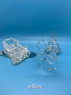 Cristal Swarovski 4 Pièces Féerie De Noël Set Arbre, Sleigh, Renne