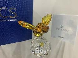 Cristal Swarovski Figurine Scs Event Piece Bumble Bee Sur Une Fleur 5244639 Mib Withca