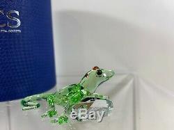 Cristal Swarovski Figurine Scs Green Gecko Piece Événement 2008 905541 Mib Withcoa