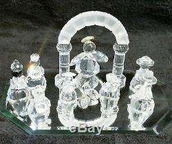 Cristal Swarovski Figurines 11 Pièces Fab Cristal Ensemble De Noël Lot Magnifique