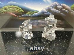 Cristal Swarovski Lot De 8 Figures 11 Piece Set Nativité Scène De Dommages Mineurs