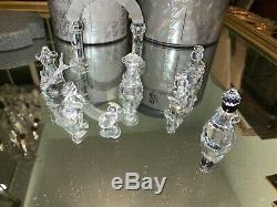 Cristal Swarovski Lot De 8 Pièces Nativité Arche 3 Mages Ange Avec Mary Corne