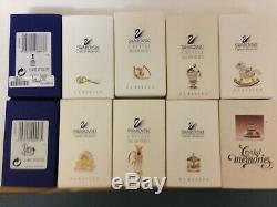 Cristal Swarovski Souvenirs Lot De 10 Pièces Avec Boîtes Et Cert