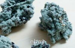 Cristaux De Quartz De Chlorite Vert Riche Avec Galena, Spécimens De Pyrite Lot De 6 Morceaux
