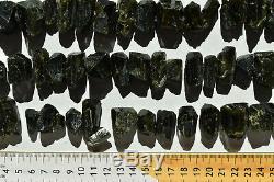 Cristaux Wholesale Dark Green Epidote Du Pérou 85 Pièces 1 KG # 4079