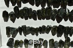 Cristaux Wholesale Vert Foncé Epidote Du Pérou 120 Pièces 1 KG # 4077