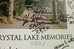 Crystal Lake Memories Le Vendredi 13 Avec 16 Autographes + Un Morceau De Dock - Avec Certificat