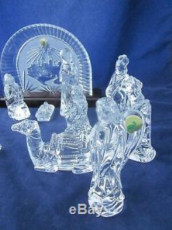 Crystal Nativité 14 Waterford Piece Set Excellent