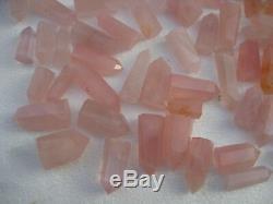 Cure En Cristal De Quartz Rose Naturel De 100 Pièces