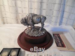 Danbury Menthe Us Buffalo Nickels Pièce D'exposition En Cristal Nib Avec 8 Pièces De Rechange