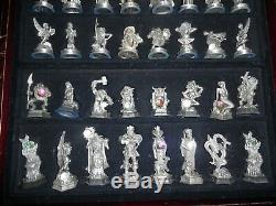 Danbury Mint Echecs Fantasy Crystal Du 32 Pieces D'echecs + Conseil