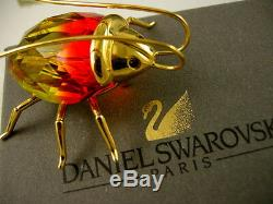 Daniel Swarovski Crystal Coccinelle Objet Objet Bug Retiré Neuf Dans Boîte