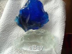 Deux Pièces En Cristal Andara Clair Et Bleu Nuit 933 Gr Monatomic Energy