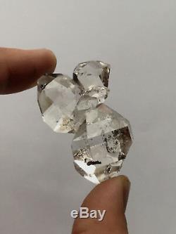 Diamant Clair De L'eau, Bijou De Diamant Herkimer Ny (5pc) - Pièce De Collectionneurs De Haute Qualité