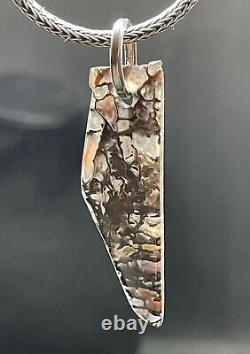 Dinosaurgemopalizedspider Bone30bali Silver Chainneklacevery Rare Piece