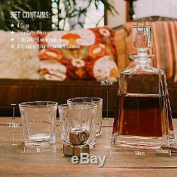 Docteur Hetzner 10 Piece Set Whisky Carafe Cristal Whisky Verres Pierres Plateau