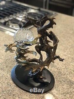 Dragon Majestueux Boule De Cristal Franklin Mint Bronze Piece Superbe Ne Suis Pas Sûr Nom
