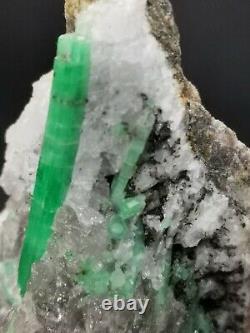 Emerald Collectionneurs Quartz Piece Mineral Gem Cristal De Guérison Des Échantillons