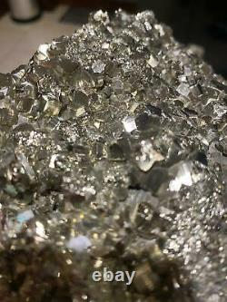 Énorme Pyrite Druzy Pièce 4, Grade Premium, Haute Qualité 2.188kg L18xw12xh7cm