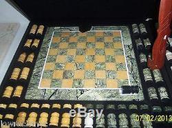 Fait À La Main Avec Dolimite Set Chess Piece Cas D'art Livraison Gratuite