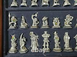 Fantaisie Du Cristal Jeu D'échecs En Étain Mint Danbury Pièces Rare