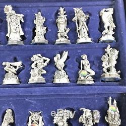 Fantaisie Du Cristal Jeu D'échecs Pièces En Étain Mint Danbury
