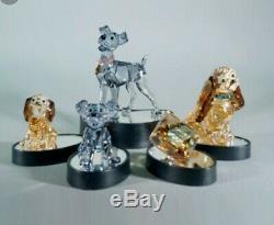 Figurine En Cristal Swarovski La Dame Et Le Vagabond Avec Socle Ensemble De 6 Pièces