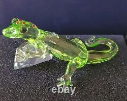 Figurine Swarovski Crystal Gecko 2008 Event Piece #905541 Avec Box