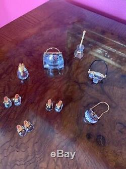 Figurines En Cristal De Swarovski Lot De 8 Pièces Autriche Absolument Magnifique