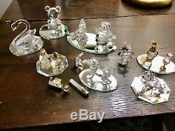 Figurines En Cristal Swarovski Lot 14 Set Piece