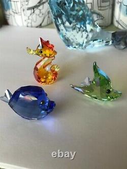 Figurines Swarovski Crystal Lovlots Sealife Figurines (6 Pièces Totales) Menthe