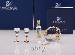 Figurines Swarovski Souvenirs De Cristal -ensemble De Vin 5 Pièces D'or 235676