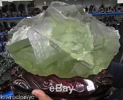 Fluorite Octogonale Vert Foncé Minéral 16 Kgs = 35lbs Pièce De Collecteur
