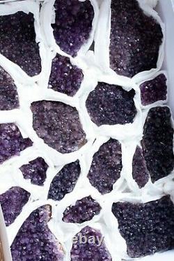 Génial! Purple Améthyst Crystals Specimen Lot De 19 Pièces D'alacam, Turquie