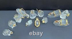 Gorham Crystal/gold Nativity Set 12 Pièces Menthe